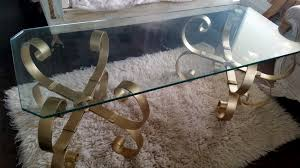 Vintage Glass Top Coffee Table Vintage Glass Top Coffee Table