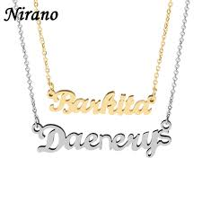 custom necklace pendants nirano personalized name choker necklace pendants gold color