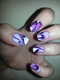 punky purple water marble purely polished