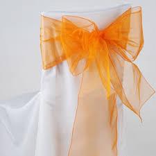 organza chair sashes orange organza chair sash 8 x 108 fuzzy fabric