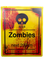 zombies warning sign scary zombie halloween decorations
