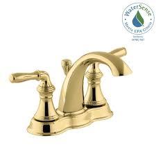 kohler bathroom faucets polished brass beautiful kohler kohler devonshire 4 in centerset 2 handle mid arc water saving