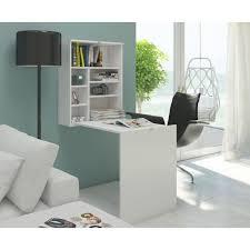 bureau rabatable bureau rabattable contemporain blanc mat 60 cm achat vente