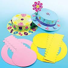 easter bonnet coloured easter bonnet kits for kids crafts at easter pack of 3