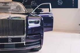 rolls royce phantom this 2018 rolls royce phantom is purple on purple perfection