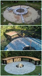 Firepit Patio Diy Garden Firepit Patio Projects Free Plans