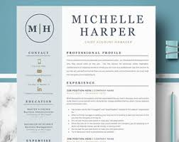 cv layout on word resume template etsy