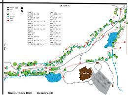 Greeley Colorado Map by The Outback Dgc In Greeley Co Disc Golf Course Review