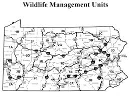 Pennsylvania Counties Map by Pennsylvania Wildlife Management Units Limited Changes This Time