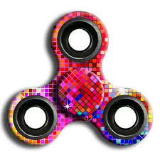 2018 interesting stress relief toy camouflage finger spinner red