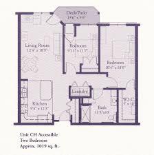floor plans ch 1019 2 bed 1 bath