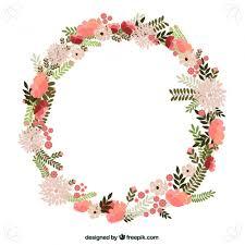 flower wreath fleurs de printemps couronne icons wreaths and free