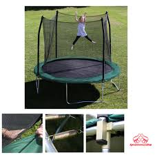 trampoline set enclosure kids bouncer jump outdoor game party