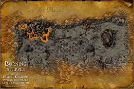map quests burning steppes map with locations npcs and quests of
