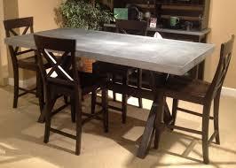 zinc top dining table zinc top dining table natural zinc top