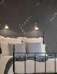 chambre avec papier peint chambre papier peint superbes papiers peints pour la decoration