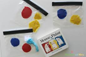 mouse paint color mixing munchkins and moms