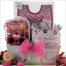 birthday gift basket baby s birthday baby girl birthday gift basket swank gift