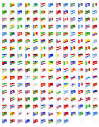 Flags Countries Set Icons Flags Of Countries Of The World Royalty Free Vector Clip