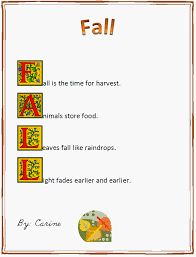 fall acrostic poem exle poems poem and