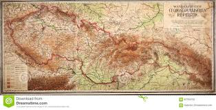 Map Of Czech Republic Old Map Of Czech And Slovak Republic Editorial Photography Image