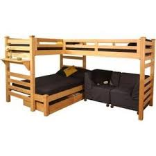 Graduate Triple Lindy Twin XL Loft BedFull Rd Bed Loft B - Twin extra long bunk beds