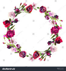 Burgundy Flowers Burgundy Floral Wreath Other Dresses Dressesss