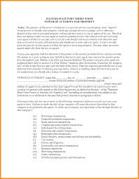 Financial Power Of Attorney Form by 7 Illinois Statutory Short Form Power Of Attorney For Property