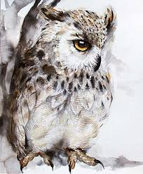 watercolor owl paintingowl painting by kuroninjin on etsy paint