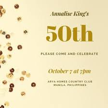 birthday invitation template gold sequins 50th birthday invitation templates by canva