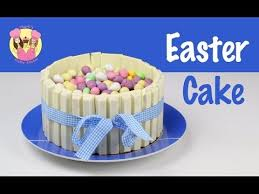 Easter Cake Decorations Easter Kit Kat Cake Decorate With M U0026ms Or Chocolate Eggs How