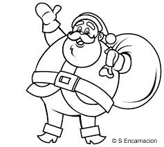 draw jolly santa claus cartoon