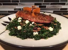nutrient dense kale salad with blackened salmon recipe