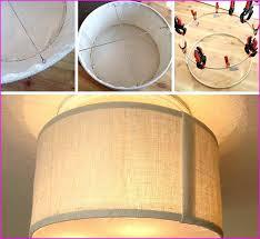 Diy Drum Pendant Light Drum Pendant L Shade Home Design Ideas
