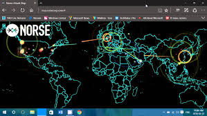 Map Of The Internet Real Time Live World Map Of Internet Attacks From Norse Youtube