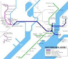 hudson bergen light rail map path newark subway maps light rail light rail