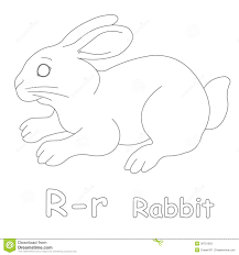 r for rabbit coloring page stock illustration image 39701563