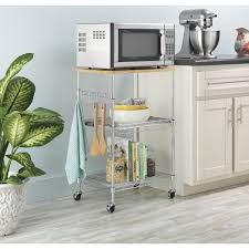 Microwave Cart With Wheels Cutting Board Cart U2013 Laptoptablets Us