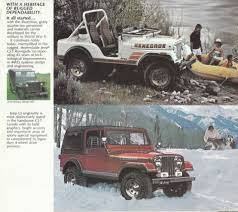 vintage jeep renegade 1983 jeep mailer 02 70 u0027s american classic cars pinterest