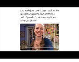 Good Luck Charlie Meme - step aside jake paul logan paul let the true vlogging queen take