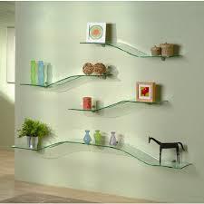 glass bathroom shelves that require decoration home interior