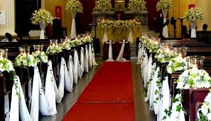 church wedding decorations wedding church decorations flower decorations for a church