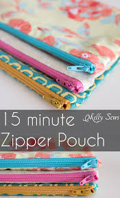 how to sew a zipper pouch tutorial tutorials sewing projects