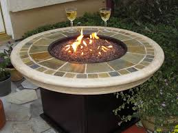 Rustic Patio Furniture by Patio Table With Fire Pit Home Design By Fuller