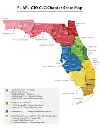 Cape Coral Florida Map Central Labor Councils Florida Afl Cio
