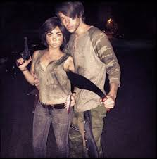 Walking Dead Halloween Costumes Sarah Hyland U0026 Matt Prokop U0027walking Dead U0027 Characters