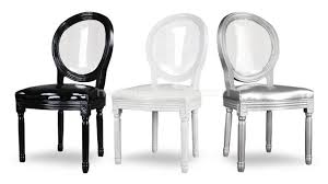 chaises plexiglass chaise médaillon avec dossier transparent en plexi polka