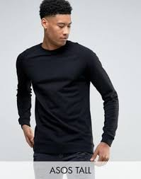 asos tall sweatshirt in black 1033936 machine wash according to