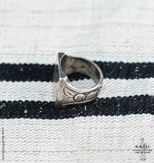 Initials Ring Kai D Utility U2014 Vintage Silver Initials Ring Size 10 1 4