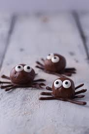 halloween chocolate balls chocolate peanut butter protein ball spiders recipe